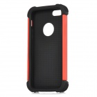 3-in-1 Protective Silicone Back Case PC Cover for Iphone 5 - Red + Black