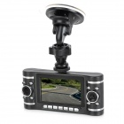 2.7'' TFT 3.0MP CMOS Wide Angle Dual Lens Car DVR Camcorder w/ TF / Mini USB - Black