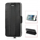E-030 2600mAh Rechargeable PU External Power Pack w/ USB Cable for iPhone 5 - Black