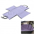 Folding Double-Layer Dog Cat Pet Protection Pad Mat for Car - Purple