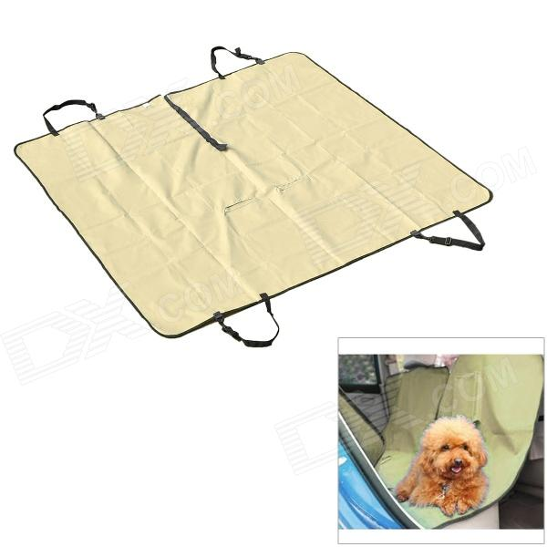 Outing Dog Cat Pet Car Truck Seat Cover Hammock Carpet Mat - BeigePet Outdoor<br>ModelNoQuantity1ColorBeigeMaterialPVCSuitableMaterialPVCSuitableForm  ColorYellowQuantity1ColorBeigeMaterialPVCSuitablePacking List<br>