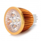 GX5.3 5W 450lm 4500K Warm White 5-LED Spot Light Bulb - Golden + White (12V)