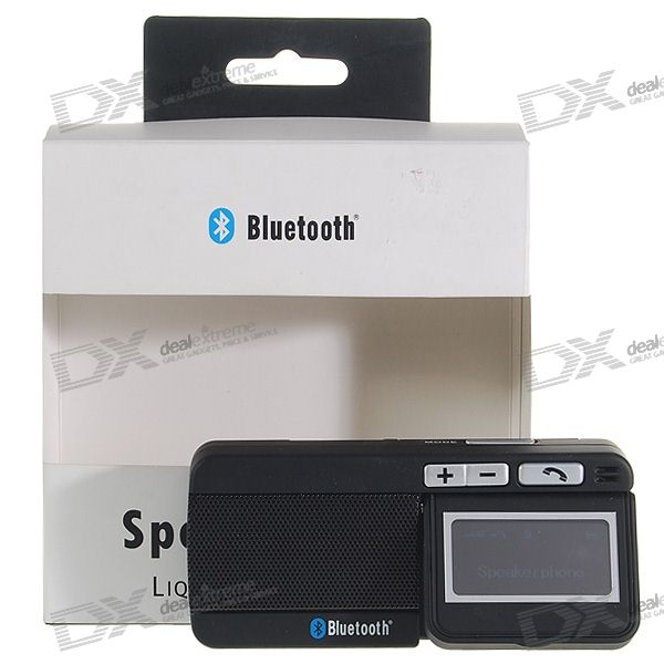 "1.8"" LCD Caller-ID Bluetooth Handsfree Speakerphone Rechargeable Carkit (8 Cell Phone Standby)"