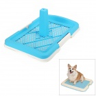 Dual PVC Mesh Pet Dog / Cat Toilet / Bed Pan - Blue (Size S)