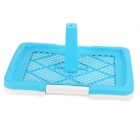 PVC de doble malla Pet Dog / Cat Toilet / Cama Pan - Azul (Talla S)