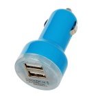 2100mA Dual USB Car Cigarette Lighter Charger for Ipad MINI - Blue