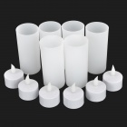 Rechargeable Candle LED Lamp w/ Charger Kit - White (6-Pack)