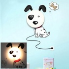 NO-HYQD002 Cute Cartoon Spotty Dog 25W Night Light - Black + White (2-Flat-Pin Plug / 220V)