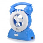 QY 8365 Mini Retro Telephone Style Rechargeable 2-Mode Fan w/ 20-LED Light - Blue + White
