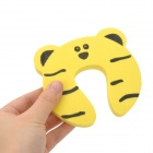 Cute Bear Pattern Baby Safety Door Stopper Finger Pinch Guard - Yellow