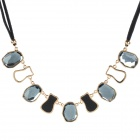 CZ Diamond Copper Alloy Necklace - Grayish Blue