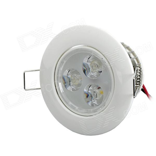 JR-6W 6W 265V 450lm 3500K Warm White Ceiling Light - Silver + Milky White