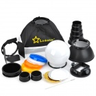 LINKSTAR SLK-8 Universal Strobist Speedlite Accessory Kit - Black