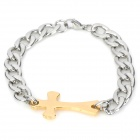GT001 Gothic Cross Style Titanium Steel for Men - Silver + Golden