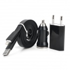SJT-8P AC Power + Car Power Adapters + 8-Pin Lightning Charging / Data Cable for iPhone 5 / iPad 4