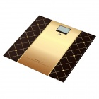 HC HC-03 2.0'' LCD Toughened Glass Digital Weighing Scale - Golden + Black (180kg / 3.5g / 1xCR2032)