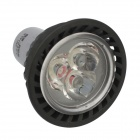 H! Win Mr16 GU5.3 3W 270lm 3500K Warm White 3-LED Bulb - Black