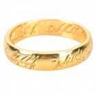 Classic the Lord of the Rings Style Alloy 24K Gold Plated Ring - Golden