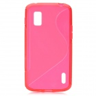 """S"" Style Protective TPU Back Case for LG Nexus 4 E960 - Red"