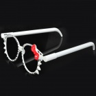 Cute Cat Pattern Glasses Frame Ball-Point Pen - White (2 PCS)