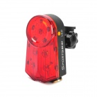 QY-L02 Rechargeable Highlight 4-Mode 10-LED Red Light Tail Warning Safety Light - Red + Black