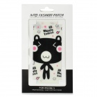 Protective Cartoon Bear Mushroom Style Front + Back Skin Sticker für iPhone 5 - Pink + White + Black
