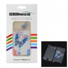 Glossy PET Blue Butterfly Screen Protector Guard for Iphone 4 / 4S - Transparent