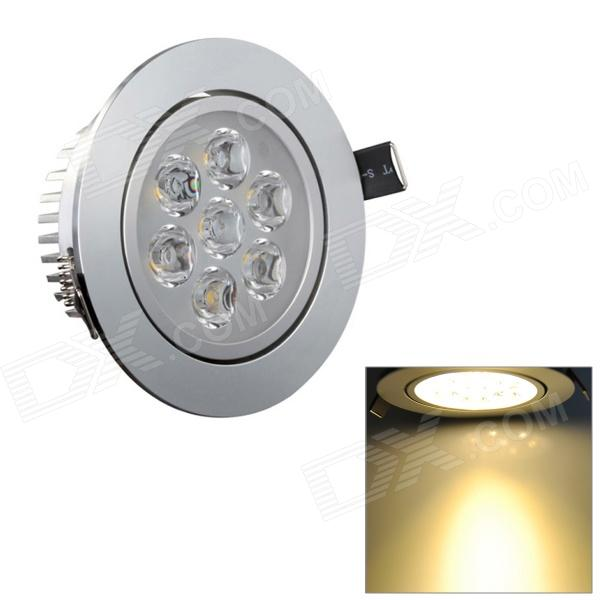 SDY594 7W 630lm 3200K Warm White 7-LED Ceiling Down Light w/ LED Driver - Silver Newark B. ad