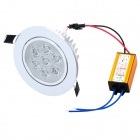 SDY594 7W 630lm 3200K Warm White 7-LED Ceiling Down Light w/ LED Driver - Silver