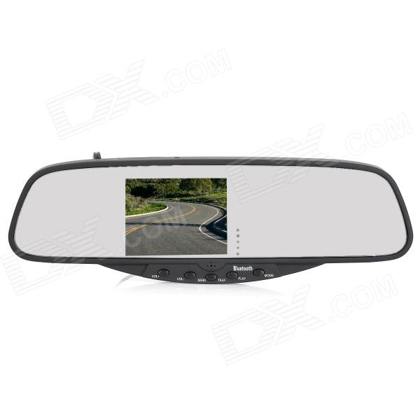 WiindStone BT728 3.5 TFT Bluetooth 2.0 + EDR Rearview Mirror - Black