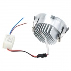 HTD692 5W 450lm 3200K Warm White 10-SMD 5730 LED Ceiling Down Light w/ LED Driver - Silver