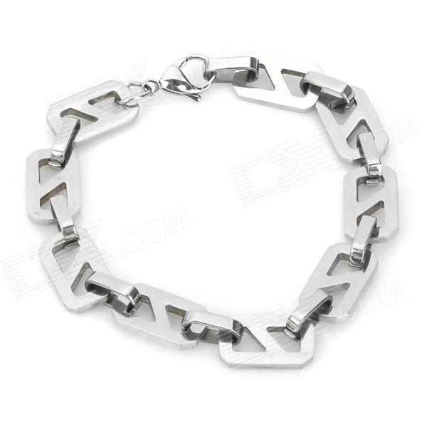 Gothic 8 Shape Surgical Stainless Steel Bracelet for Men - Silver fashion 316l stainless steel bracelet for man h023