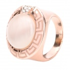 Decoration Cat&#039;s Eye + Electroplated Rose Gold Finger Ring