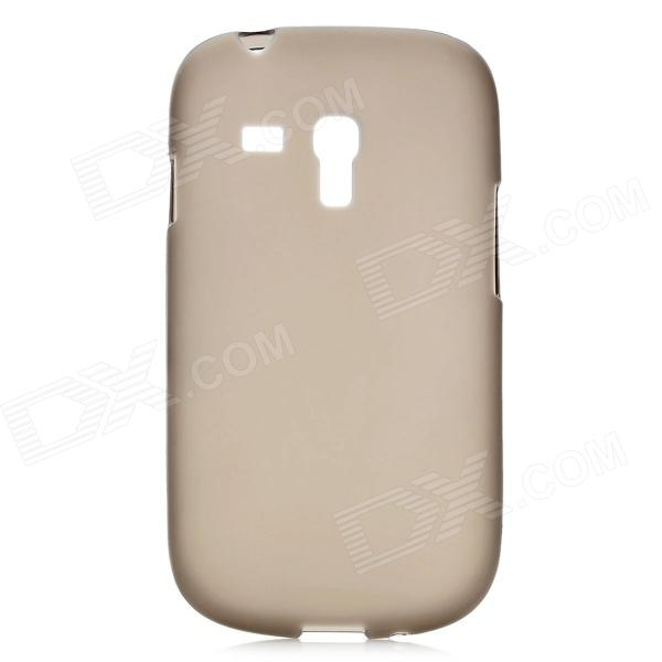Simple Protective TPU Back Case for Samsung Galaxy S3 Mini i8190 - Dark Grey