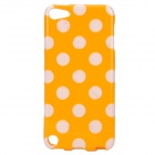 Polka Dot Style Protective TPU Back Case for Ipod Touch 5 - Orange + White