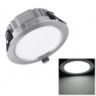 H! Win HTD696 15W 1350lm 6400K White 30-SMD 5730 LED Ceiling Down Light w/ LED Driver - Silver