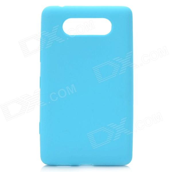 Protective Silicone Back Case for Nokia Lumia 820 - Sky Blue