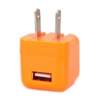 ZY-1100 AC Power Adapter for iPhone 3 / 3GS / 4 / 4S - Orange (2-Flat-Pin Plug / 100~240V)