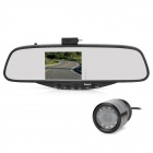 "WiindStone BT728SE 3.5"" TFT Bluetooth 2.0 + EDR Rearview Mirror w/ Camera"