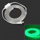 4.8W 240lm 525nm 1200-SMD 3528 LED Green Light Flexible Lamp Strip w/ 2-Flat-Pin Plug (2m)