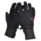 HASKY XQQ-ST-42 Screen Touching Full-Finger Hand Warmer Gloves - Black (Pair)