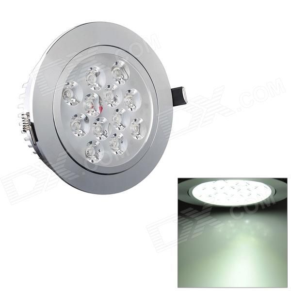 HIWIN SDY596 12W 1080lm 6500K White 12-LED Ceiling Down Light w/ LED Driver - Silver