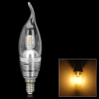 Candle Tail Shape E14 3W 300lm 3300K 6-SMD 5630 LED Warm Light Bulb - Silver (AC 110~250V)