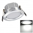 H! Win HTD691 3W 270lm 6400K White 6-SMD 5730 LED Ceiling Down Light w/ LED Driver - Silver