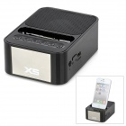 "XS-999 1.3"" LED Rechargeable Mini Speaker w/ TF / FM / Radio / USB / Dock for Iphone - Black"