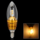 Kerzenform E14 3W 300lm 3300K 6-SMD 5630 LED Warm Light Bulb - Golden (AC 110 ~ 250V)