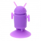 Creative Android Robots Style Rubber Suction Cup Stand for Mobile Phones - Purple