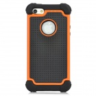3-in-1 Protective Silicone Back Case for Iphone 5 - Orange + Black