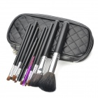 MEGAGA 272-3# Professional 10-in-1 Cosmetic Makeup Brush Set w/ PU Case - Black