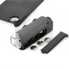 60X~100X ABS + Glass Lens Microscope for Iphone 4 / 4S - Black